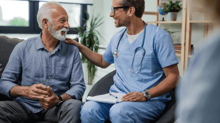 doctor providing home health care